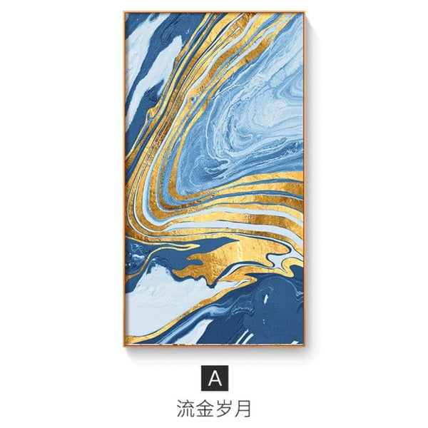 Abstract Floating Colors Canvas Wall Art - Apartment 201