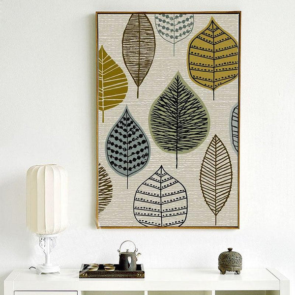 Nordic Patterned Canvas Wall Art - Apartment 201