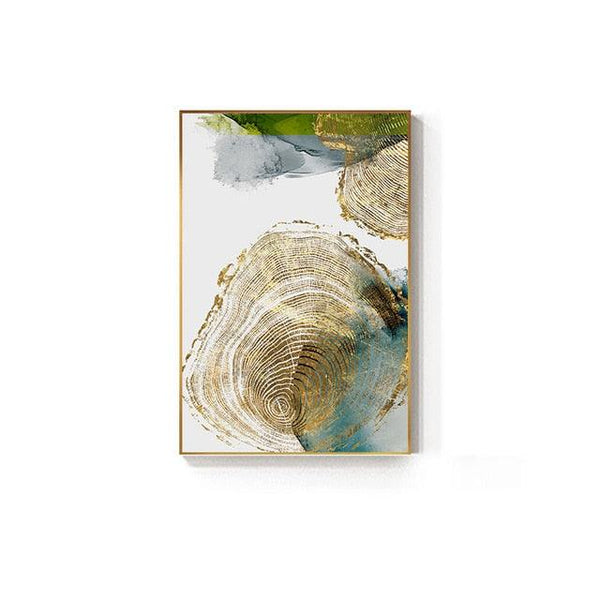 Golden Leaf Vein Canvas Wall Art - Apartment 201