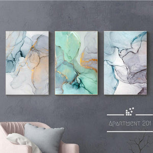 Nordic Pastel Water Color Canvas Wall Art - Apartment 201