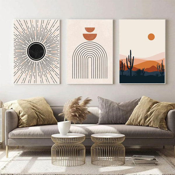 Boho Mid Century Canvas Wall Art - Apartment 201
