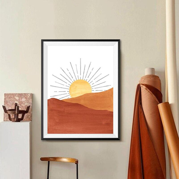 Boho Celestial Dune Canvas Wall Art - Apartment 201