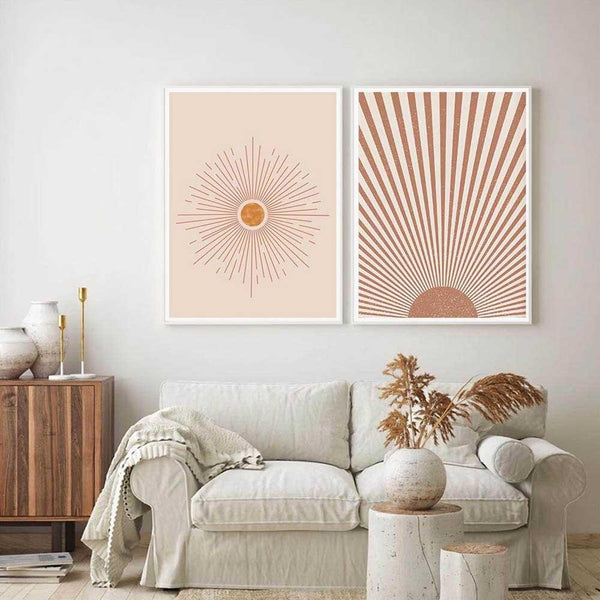Boho Glorious Sun Canvas Wall Art - Apartment 201