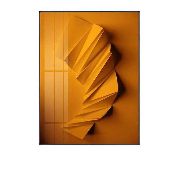 Origami Foil Abstract Canvas Wall Art - Apartment 201