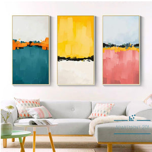 Abstract Color Mirage Canvas Wall Art - Apartment 201