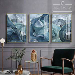 Marine Swirl Canvas Wall Art - Apartment 201