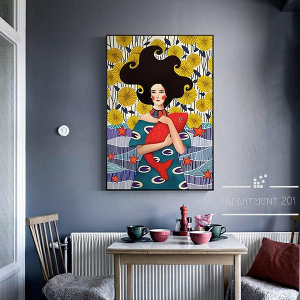 Abstract Femme Unique Canvas Wall Art - Apartment 201
