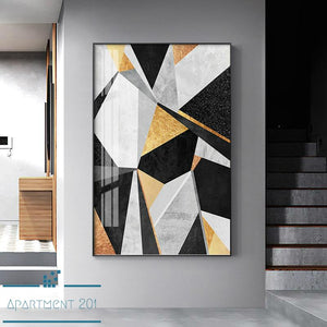 Abstract Geometric Pattern Canvas Wall Art - Apartment 201