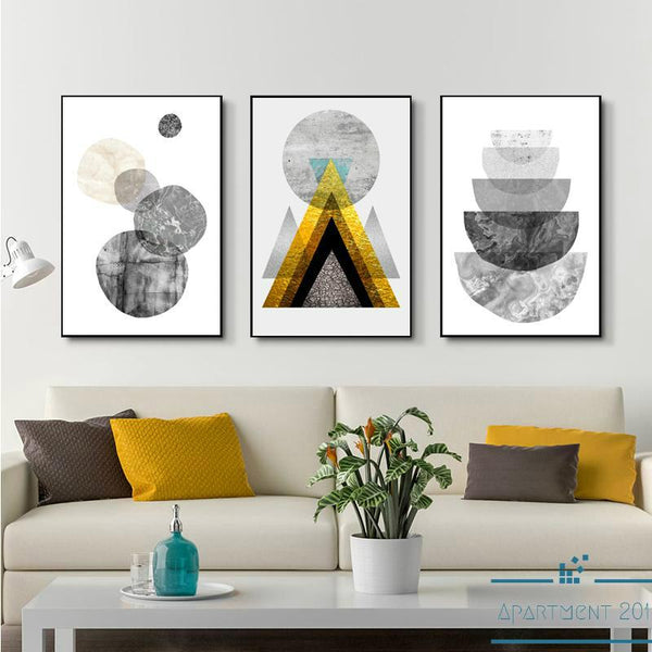 Abstract Geometric Trails Canvas Wall Art - Apartment 201