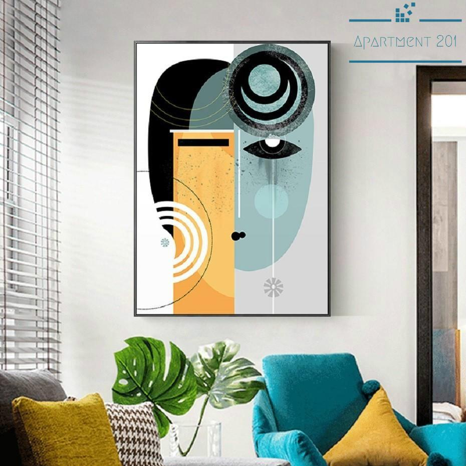 Abstract Isabella Facial Figure Canvas Wall Art - Apartment 201
