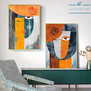 Abstract Mujeres Bonitas Canvas Wall Art - Apartment 201