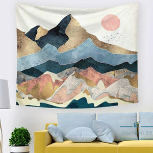 Abstract Nordic Mountain Wall Tapestry - Apartment 201