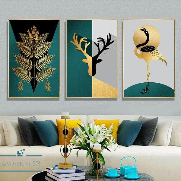 Abstract Nordic Nature Canvas Wall Art - Apartment 201