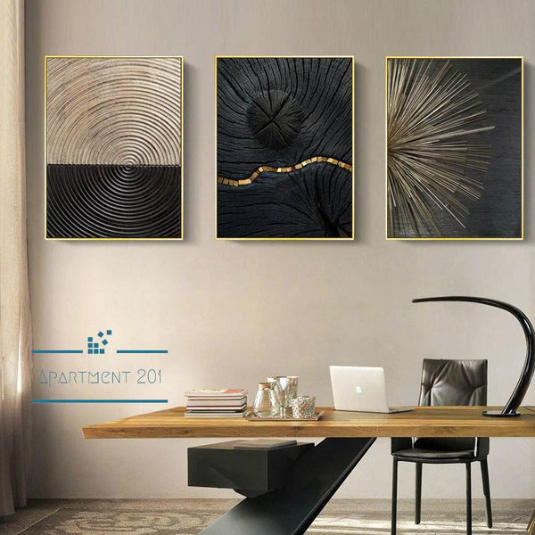 Abstract Nordic Swirl Canvas Wall Art - Apartment 201