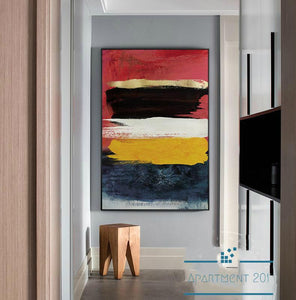 Abstract Color Fusion Canvas Wall Art - Apartment 201