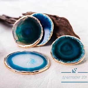 Agate Blue Crystal Coasters - Apartment 201