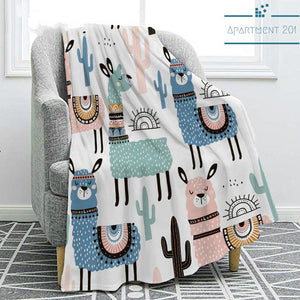 Alpaca Fun Throw Blanket