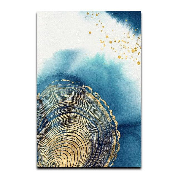 Abstract Tree Stump Canvas Wall Art - Apartment 201