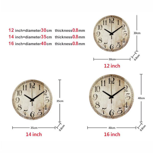 Vintage Chill Wall Clocks - Apartment 201