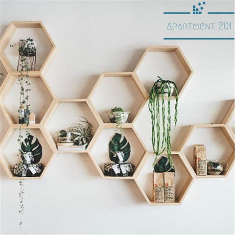 Athena Floating Hexagonal Wall Shelf - Apartment 201