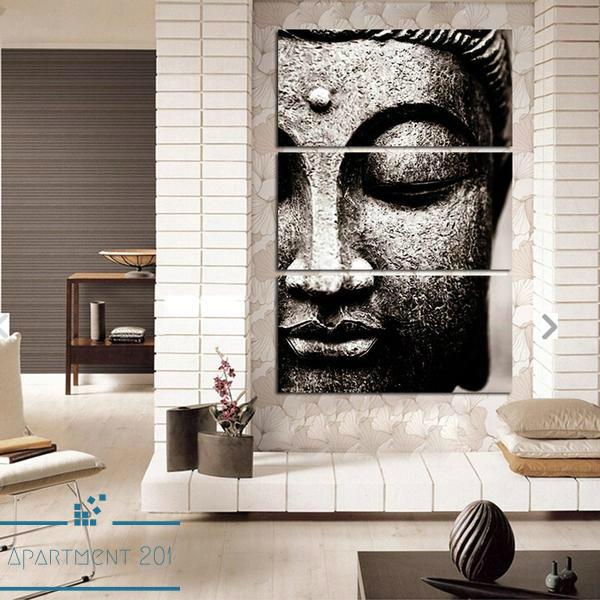 3 Panel Zen Buddha Canvas Wall Art - Apartment 201