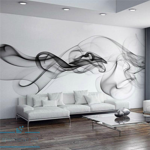 B&W Smokey Clouds Wall Paper Mural - Apartment 201