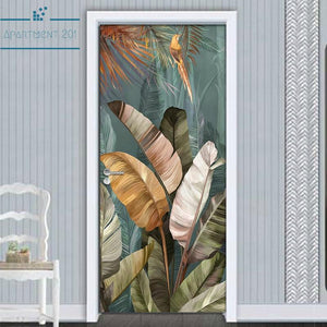 Multicolored Banana Leaf Wall Decal - Apartment 201