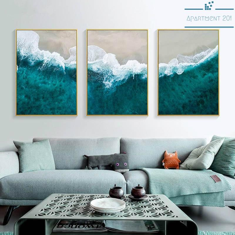 Tropical Beach Waves Canvas Wall Art - Apartment 201