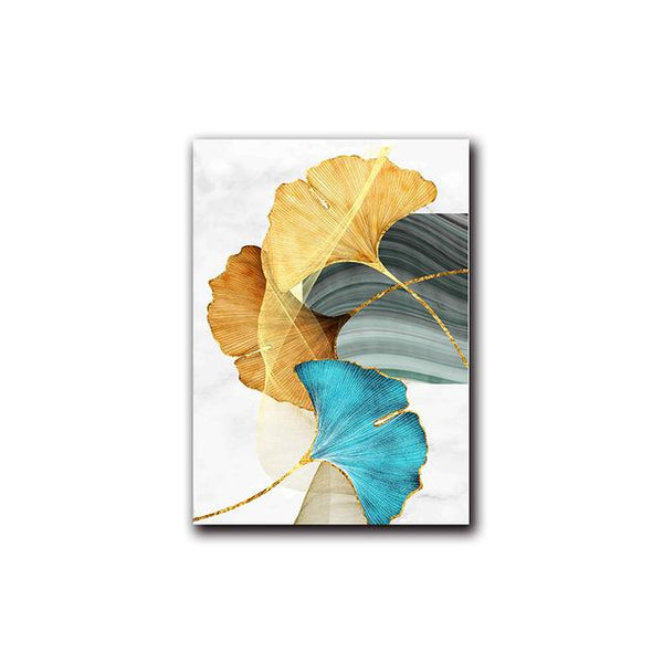 Abstract Autumn Leaf Foliage Canvas Wall Art - Apartment 201