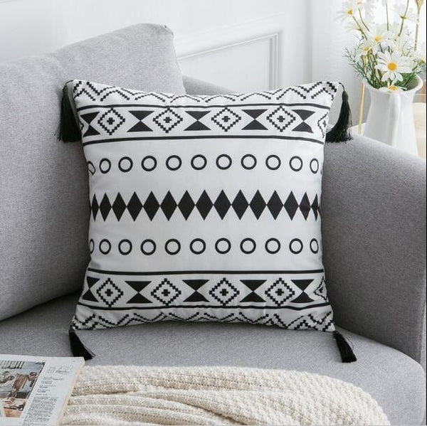 Tassel Embroidered Throw Pillows - Apartment 201