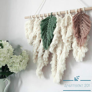 Boho Comfy Feather Macrame Tapestry - Apartment 201