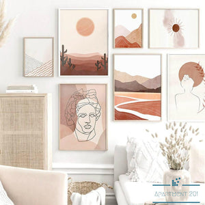Boho Earthones Canvas Wall Art - Apartment 201