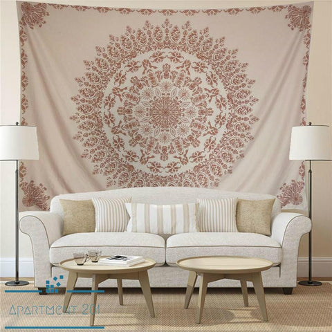 Boho Mandala Floral Wall Tapestry - Apartment 201