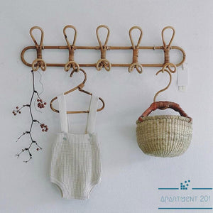Boho Rattan 5 Hook Wall Organizer - Apartment 201