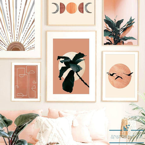 Boho Sun and Moon Canvas Wall Art - Apartment 201