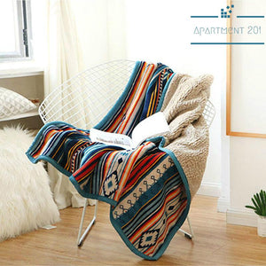 Boho Tribu Throw Blanket - Apartment 201