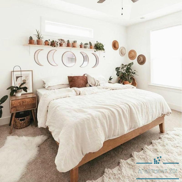 Boho Moon Phase Wall Mirror - Apartment 201
