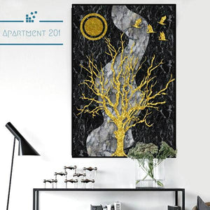 Nordic Evening Canvas Wall Art - apt201