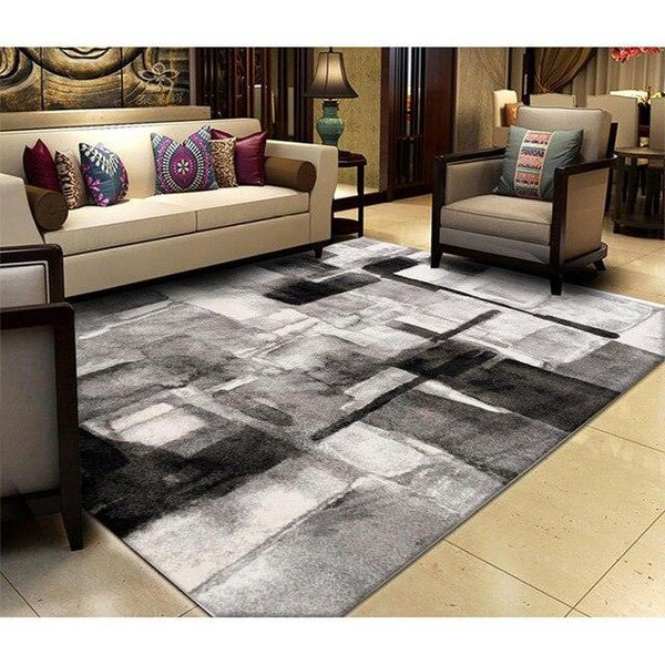 Carpets Rug For Living Room Modern Abstract Art Decoration Soft Colorful Geometric Mat For Bedroom Parlor Non-slip Antifouling - Apartment 201