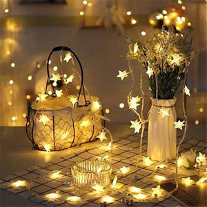 Decorative Star Garland String Lights - Apartment 201