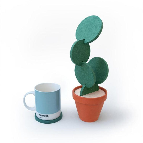 Cactus Coaster and Pot Set - Apartment 201