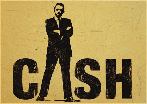 Johnny Cash Vintage Posters - Apartment 201