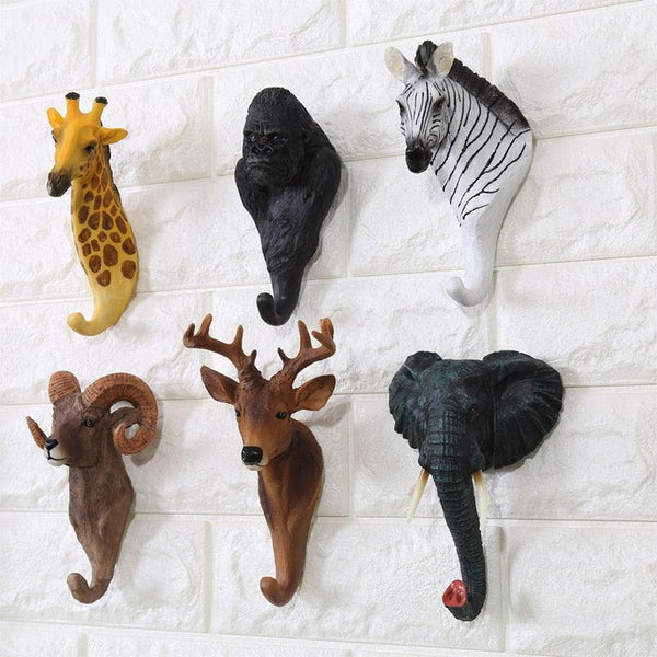 Colorful Animal Head Hook - Apartment 201