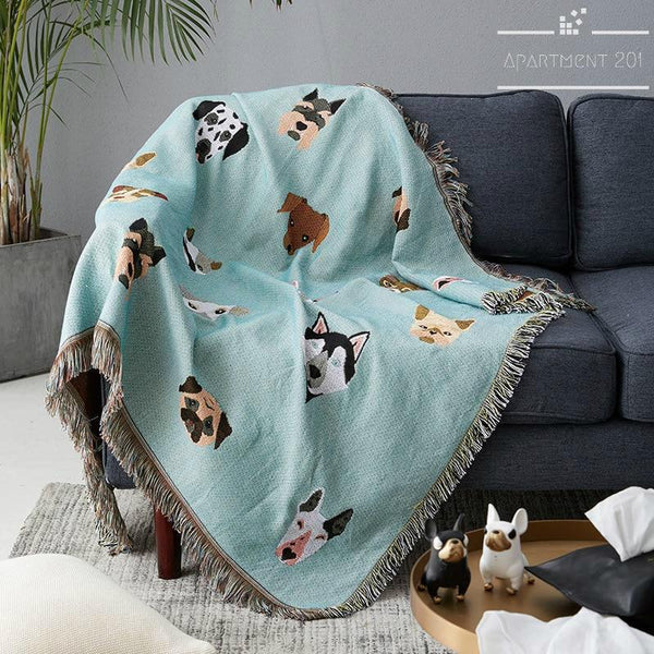 Cutie Dog Throw Blanket - Apartment 201