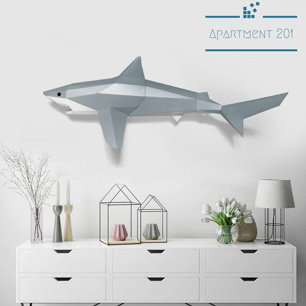 DIY 3D Paper Craft Great White Shark - Apartment 201