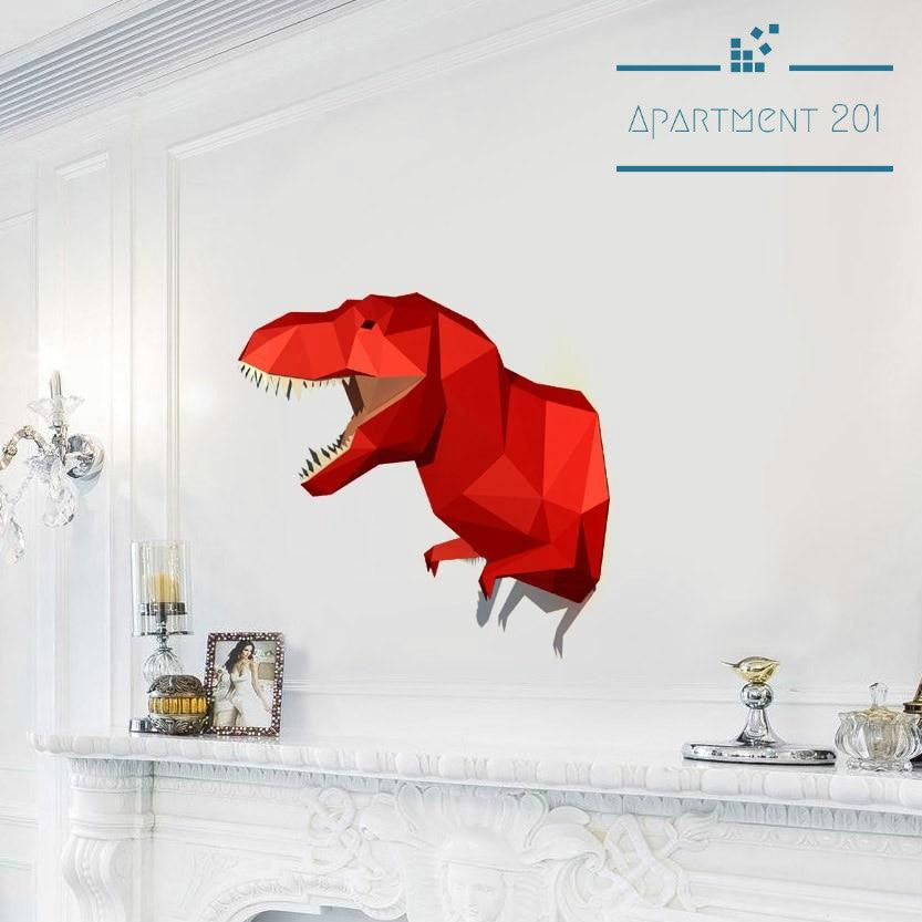 DIY 3D Paper Craft Dinosaur - Apartment 201