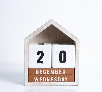 Wooden House Perpetual Calendar - Apartment 201