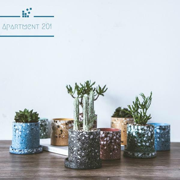 Handcrafted Terrazzo Planters - Apartment 201