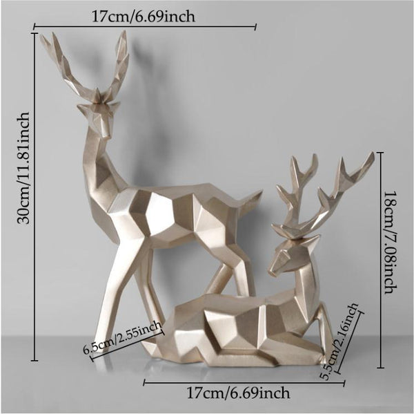 Nordic Deer Figurine - Apartment 201