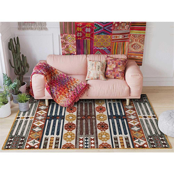 Colorful Geometric Area Carpets - Apartment 201